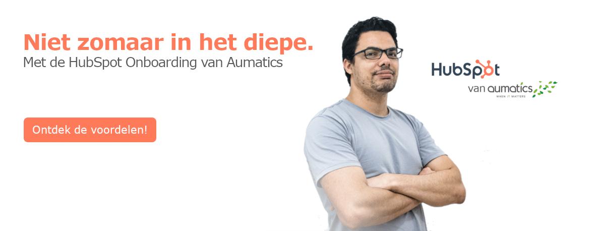 HubSpot Onboarding van Aumatics