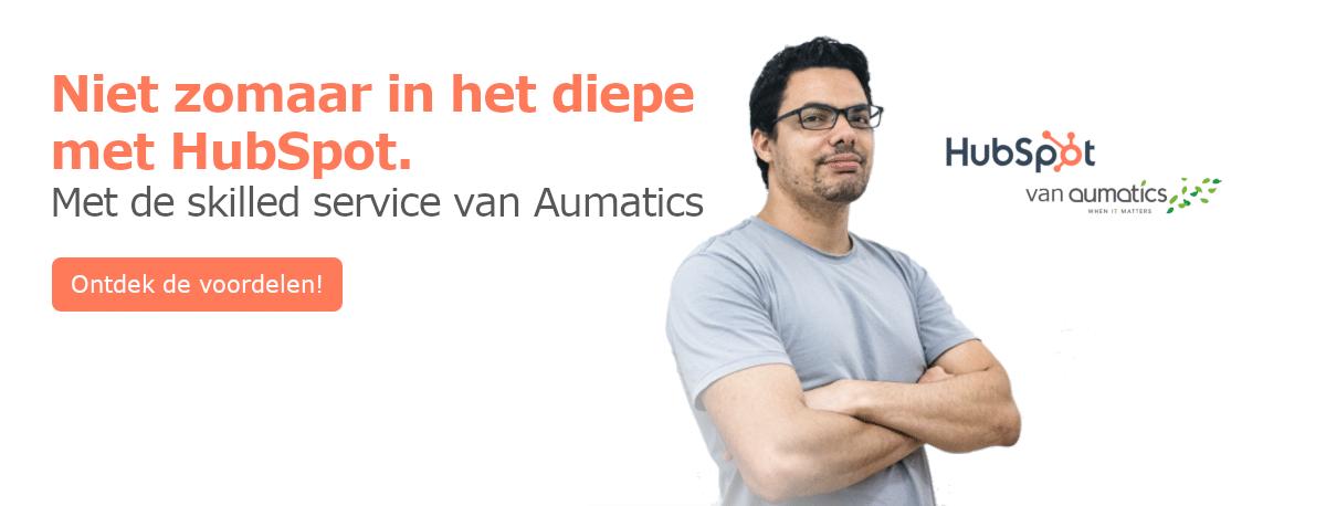 HubSpot Skilled Service van Aumatics, voor professionele begeleiding.