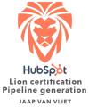 HubSpot Lions certification Jaap van Vliet